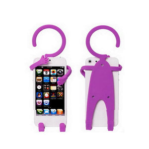 Ekdant® Hug-me Human shape Flexible Mobile Stand Phone Charging Holder Hanger Hanging Mobile Holder Car Stand Key Holder - halfrate.in