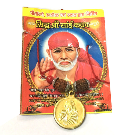 Sidha Sai Kavach with Rudraksha and Sai Yantra - Good Luck and Protection charm