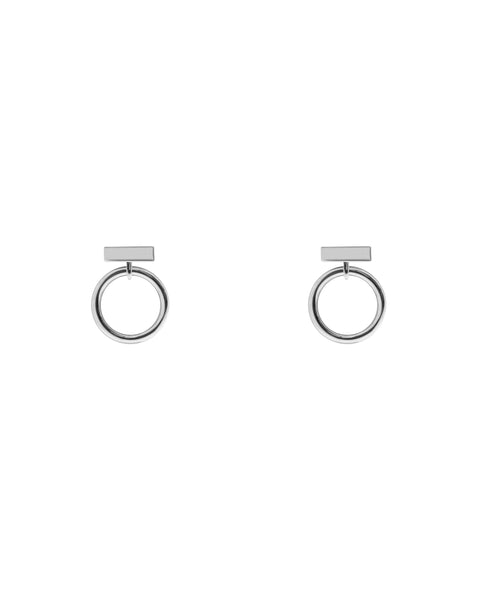Boucles d'oreilles rectangle + cercle