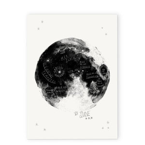Carte de souhaits - Je te lune - To the moon and back