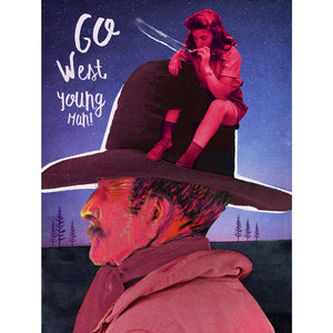 Affiche - Go West young man!