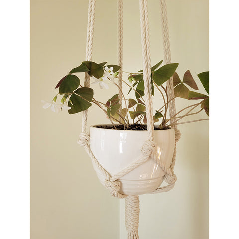 Suspension pour plante en macramé - modèle simple