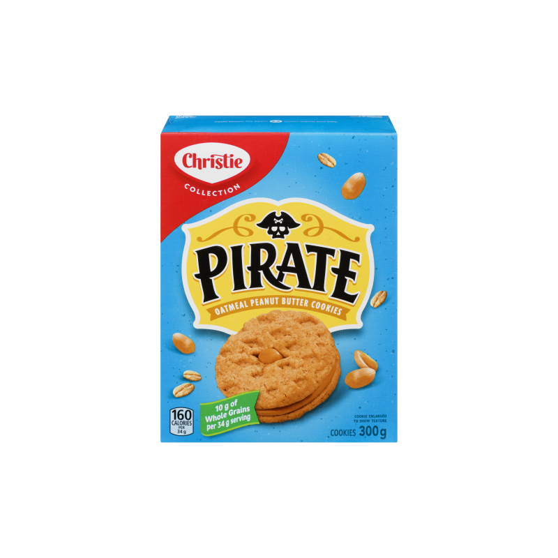 Pirate Oatmeal Peanut Butter Cookies
