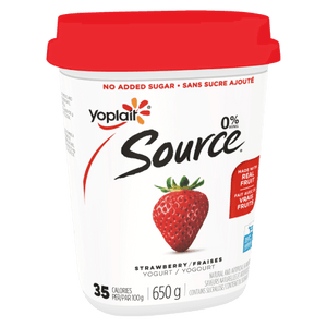 Yoplait Source Strawberry Yogurt