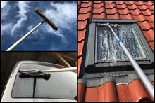 Load image into Gallery viewer, 3m Teleskop Fensterwischer-Set mit 25/30cm Kombi-Wischer