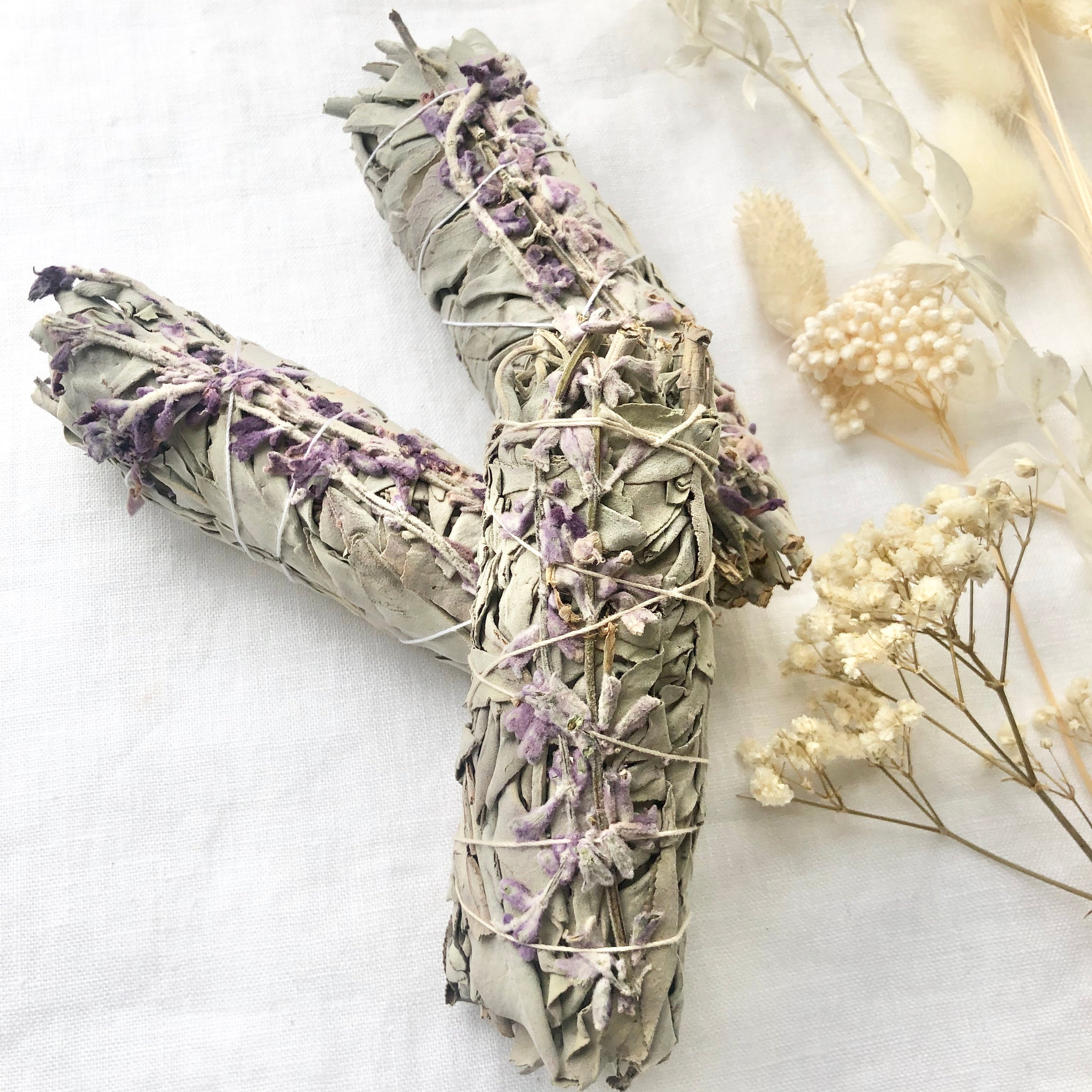 White Sage & French Lavender Smudge Stick