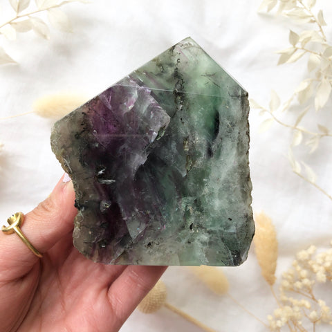 Fluorite Raw/Polished Tower