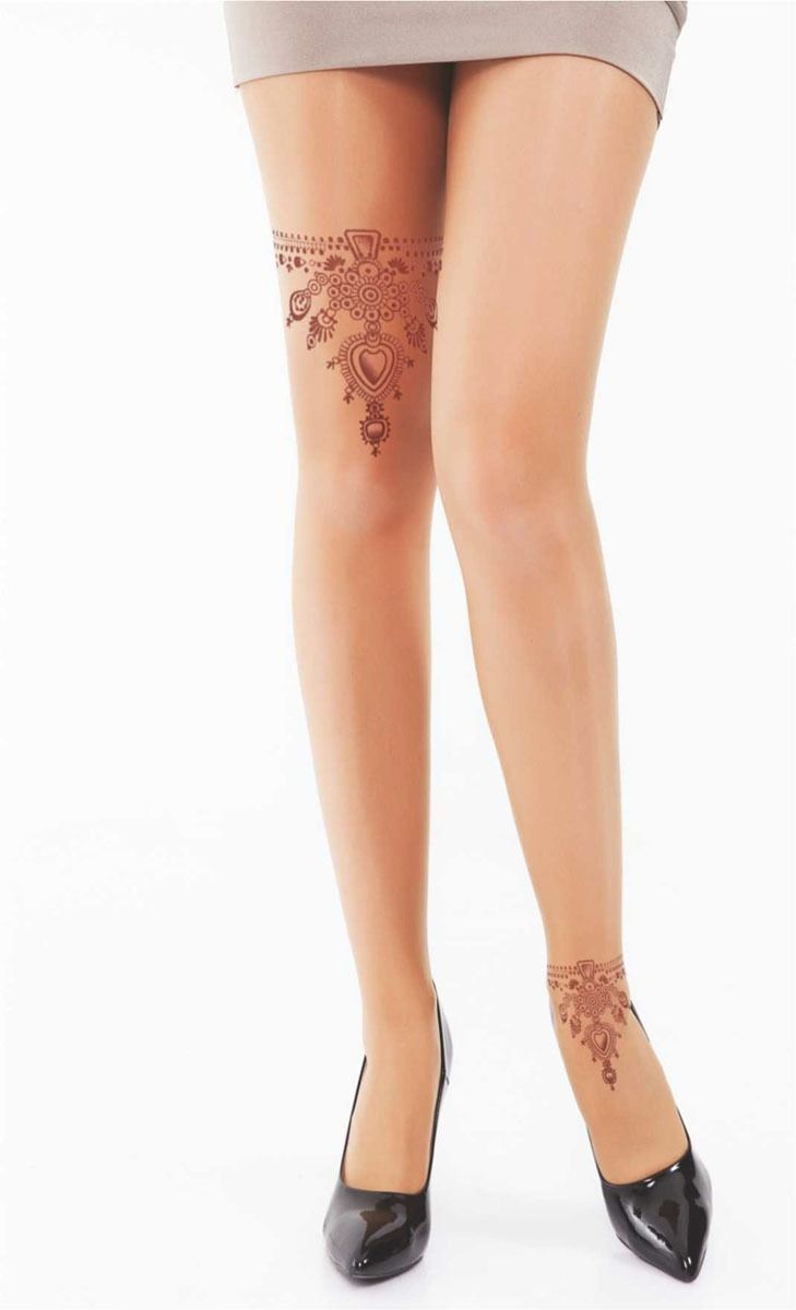 DAYMOD TRANSPARENT WOMEN TIGHT - Skin tone