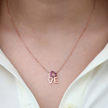 Load image into Gallery viewer, Women's Pink Zircon Gemmed 925 Carat Silver Necklace