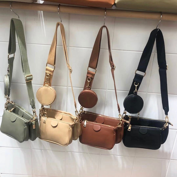 3 Sets PU Leather Shoulder Bag