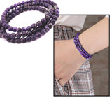 Purple Amethyst Natural Stone 99 Beads Bracelet