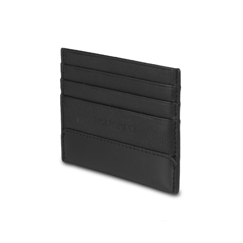 CLASSIC LEATHER CARD WALLET - BLACK