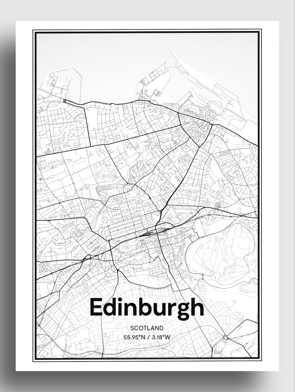 Edinburgh map| art print