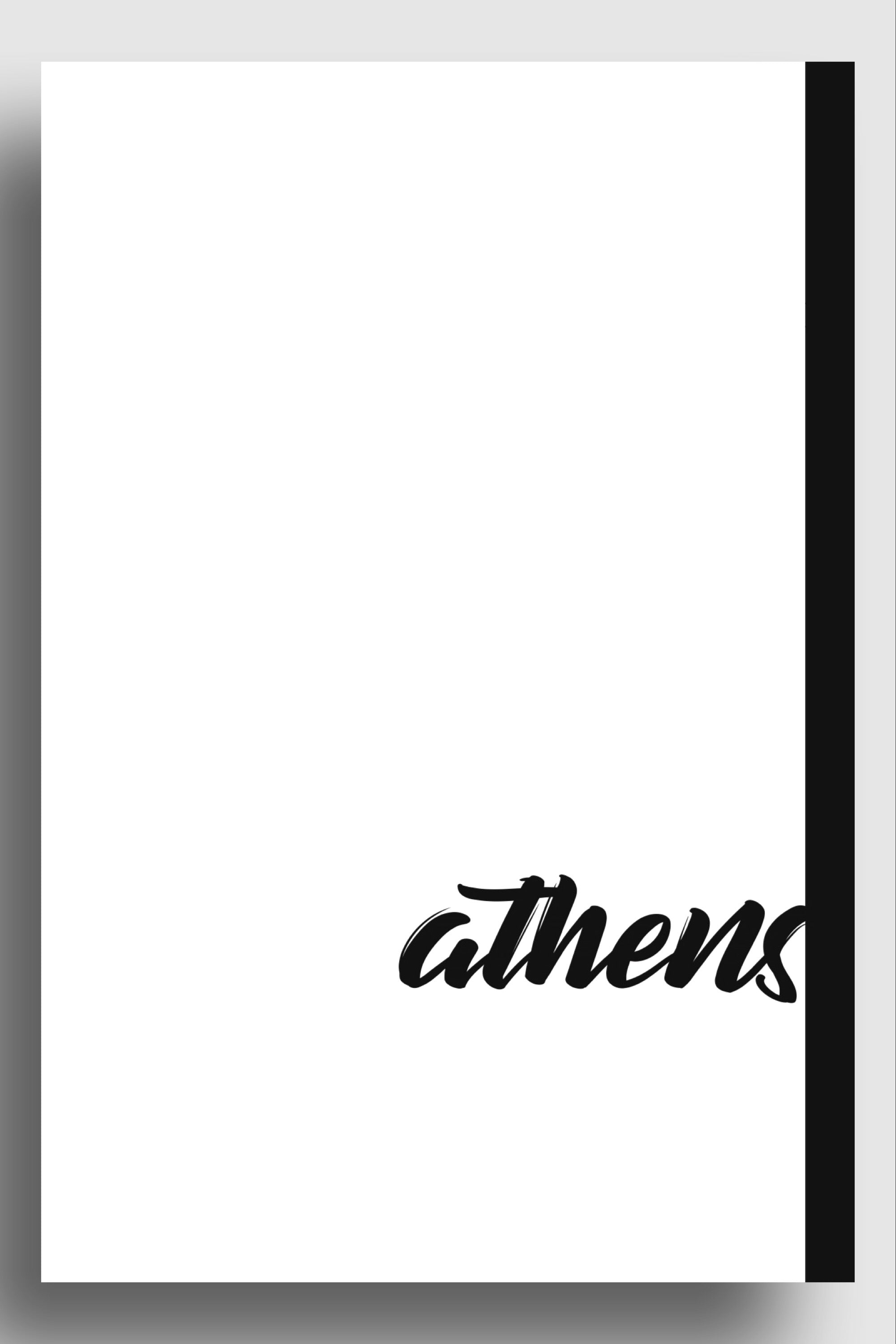 Athens hand writing | art print