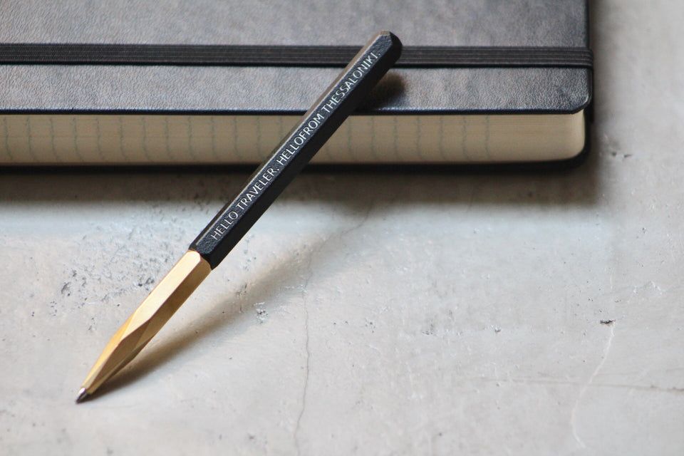 HELLOFROM LIMITED MECHANICAL PENCIL - BLACK BRASS