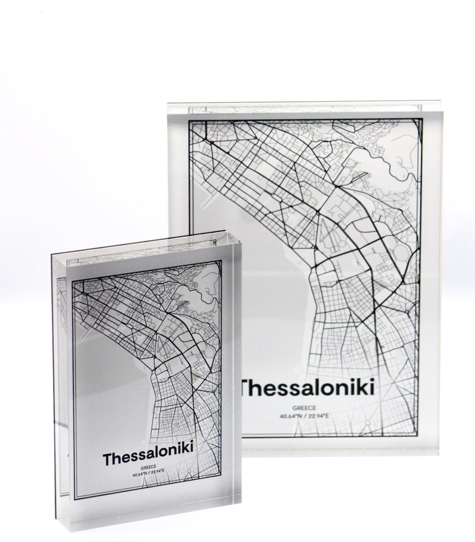 Thessaloniki map design object