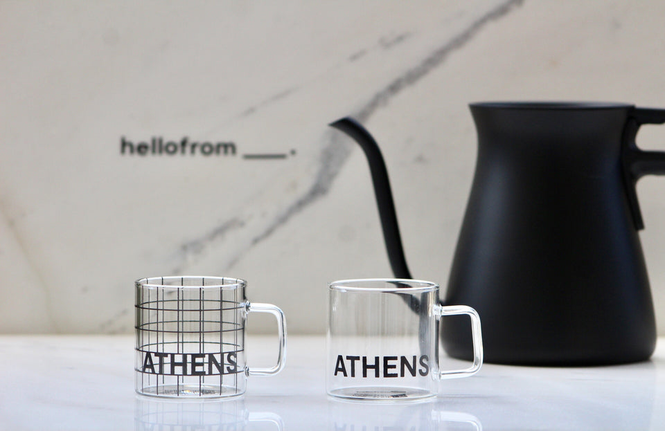 hellofrom Athens espresso cups