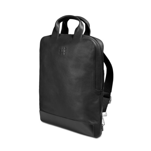 MOLESKINE CLASSIC LEATHER VERTICAL DEVICE BAG - BLACK