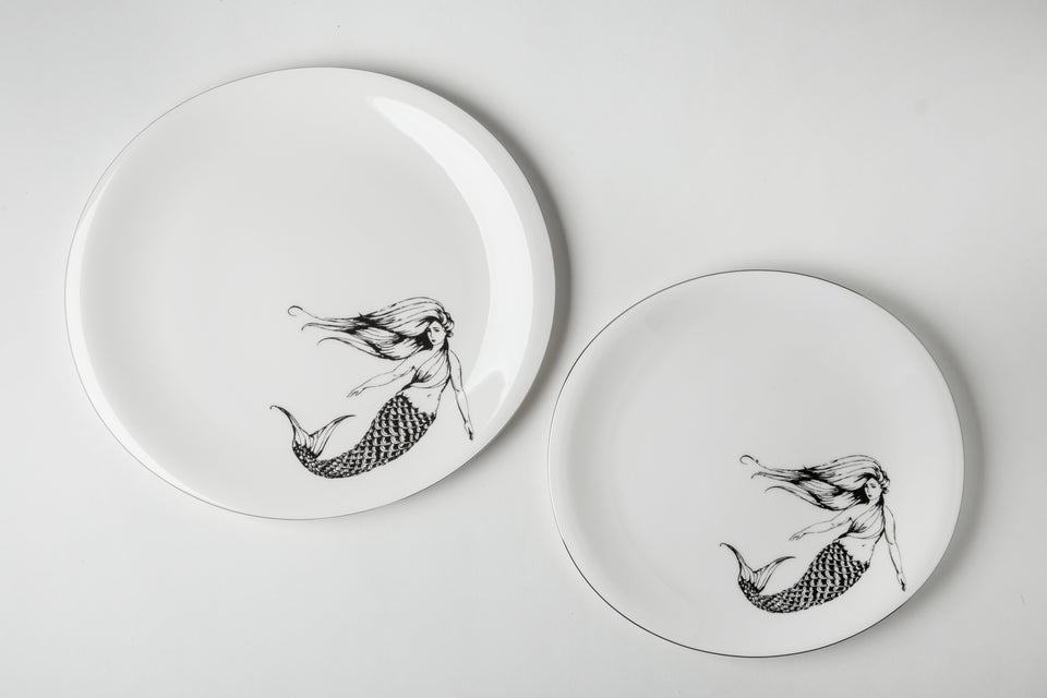 Thessaloniki Mermaid fine bone china plate