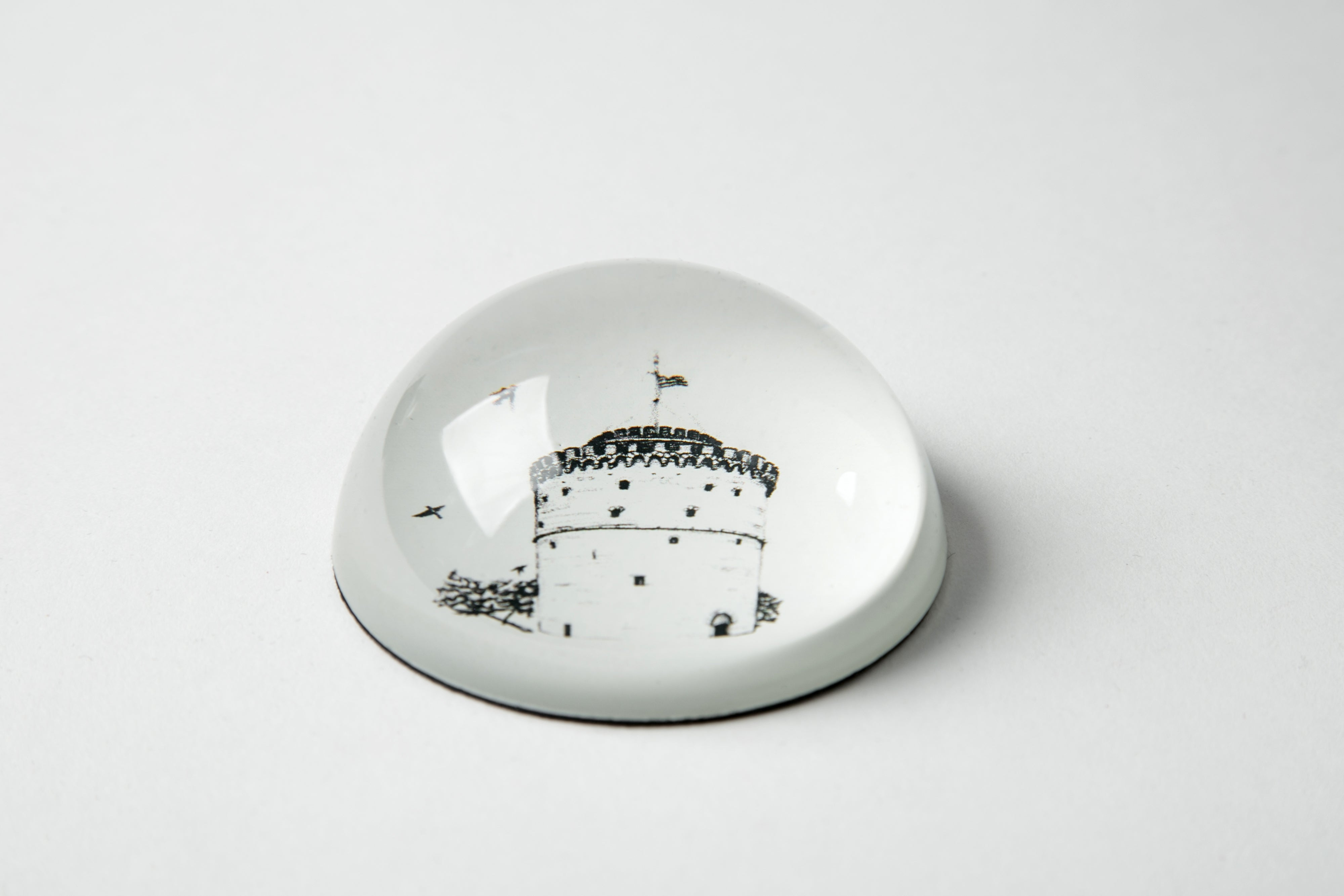 hellofrom Thessaloniki  White Tower Paperweight