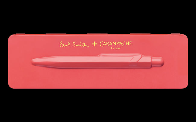 849 PAUL SMITH Ballpoint pen with etui CORAL PINK - Limited Edition