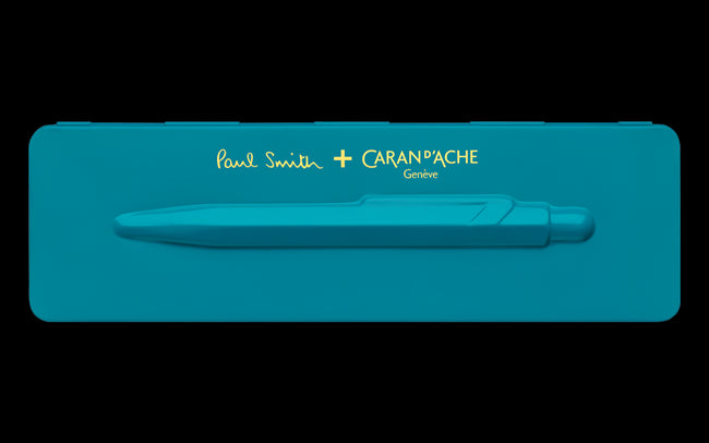 849 PAUL SMITH Ballpoint pen with etui PEACOCK BLUE - Limited Edition