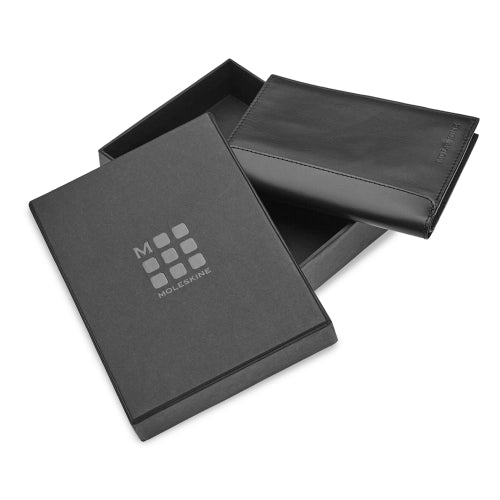 CLASSIC LEATHER PASSPORT WALLET - BLACK