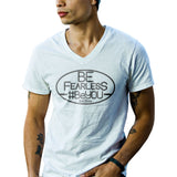 Mens Be Fearless, #BeYOU v-neck tee