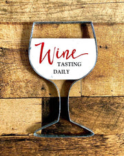 Wine glass wall plaque