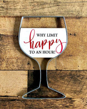 Wine glass wall plaque - Curious Bear Marketplace