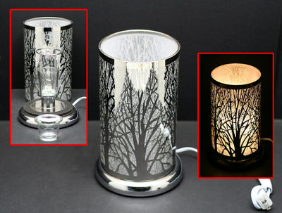 "9.5"" Touch Lamp with Oil/Wax Warmer"