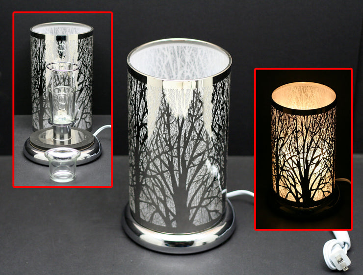 "9.5"" Touch Lamp with Oil/Wax Warmer - Curious Bear Marketplace"