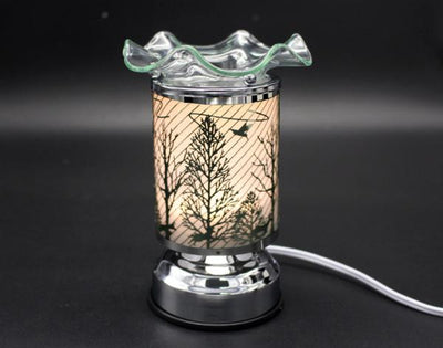 "7"" Touch Lamps with Oil/Wax Warmer"