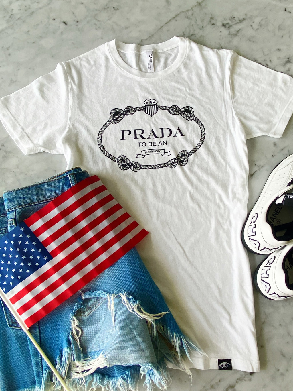 """Prada to be an American"" Eco-Friendly Shirt"