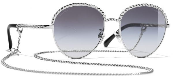 Chanel Chain Link Rounded Sunglasses