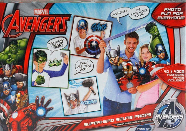 Marvel Avengers Superhero Selfie Props Photo Frame & Stickers - The Catalogue Outlet