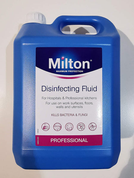 Milton Professional Kitchen & Hospital Disinfecting Fluid Kills Bacteria & Fungi 5 Litres - The Catalogue Outlet