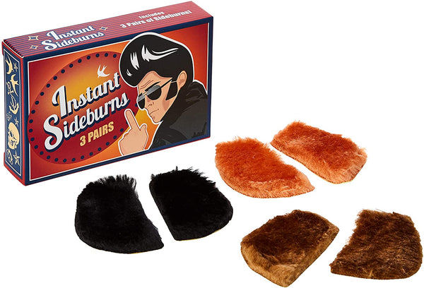Spinning Rockabilly Instant Sideburns - 3 Pairs - The Catalogue Outlet