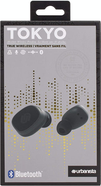 Urbanista Tokyo True Wireless Stereo Bluetooth Earphones [ TRUE WIRELESS FREEDOM ], IPX4 Rated Water Resistant, Button Control with Microphone - Dark Clown - The Catalogue Outlet