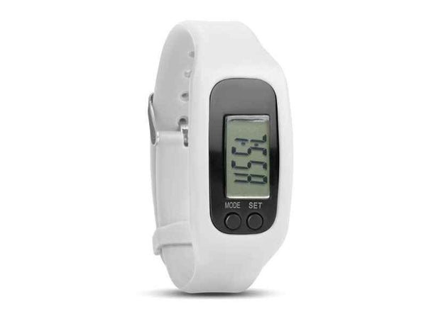 Watch Step Counter KM/Miles (White) - The Catalogue Outlet