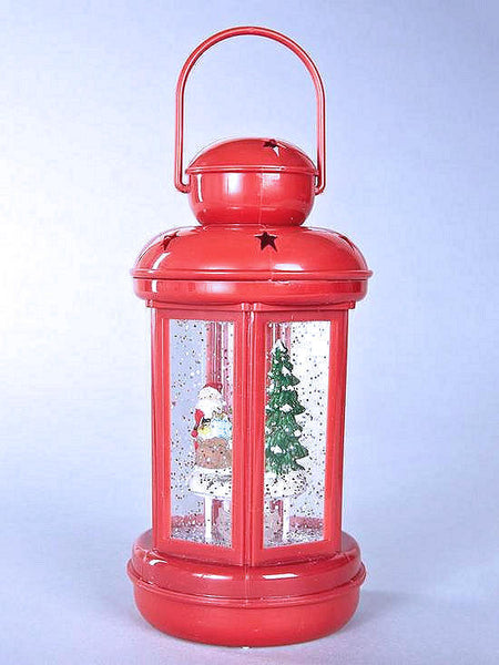 Santa's Workshop Water Filled Spinner Lantern Light Ornament - The Catalogue Outlet