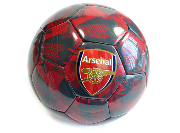 Arsenal Football Club Official Puma Size 5 Ball Camo Black Red - The Catalogue Outlet