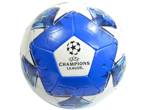 UEFA Champions League Licenced Football Size 5 White/Blue - The Catalogue Outlet
