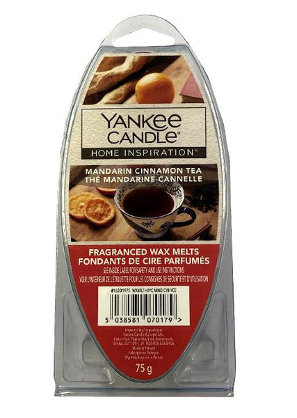 Yankee Candle Home Inspiration Fragranced Wax Melts 75g Mandarin Cinnamon Tea - The Catalogue Outlet