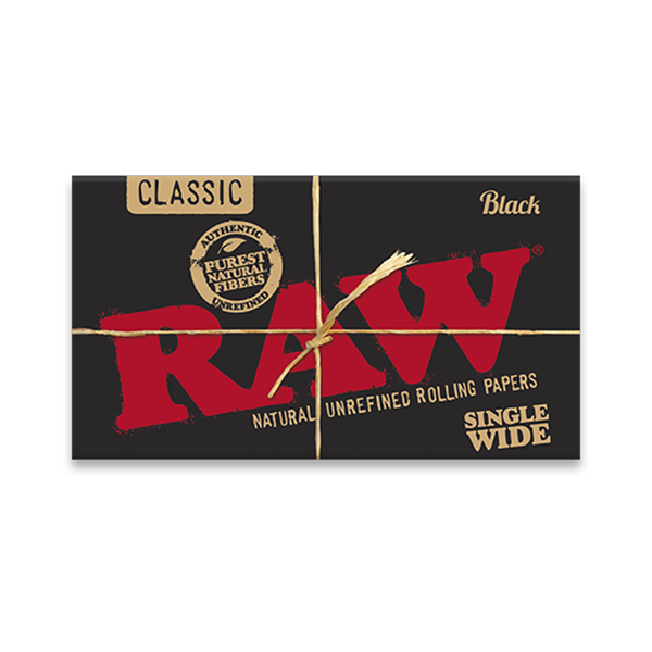 Classic Black Rolling Papers - RAW