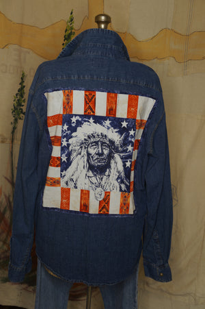 WS1002 Decorated Western Snap Shirt XXL