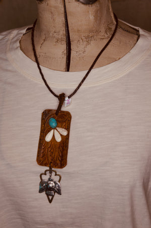 Leather Necklace with Pendant