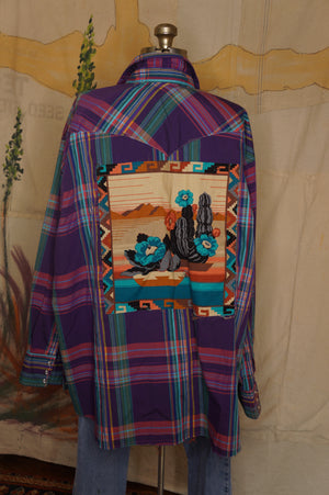 SOLD Decorated Western Snap Shirt