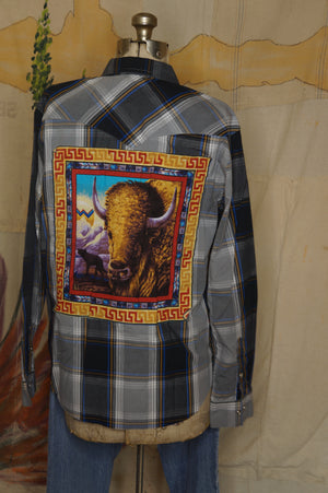WS1006 Decorated Western Snap Shirt