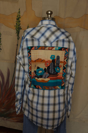 WS1004 Decorated Western Snap Shirt
